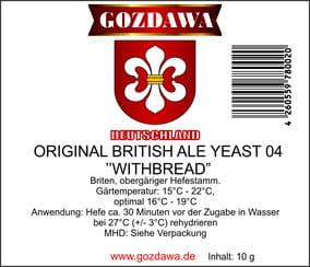 "Original British Ale Yeast 04 ""Withbread"" 10g Drożdże piwowarskie"