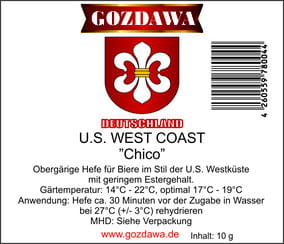 "US West Coast ""Chico"" 10g Drożdże piwowarskie"